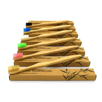 Eco-friendly Bamboo Toothbrush Biodegradable Bristles Organic Natural Charcoal Infused Bamboo
