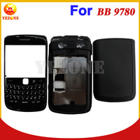 Black White Original Mobile Phone Full Case Cover Faceplate +Middleplate +Back Cover Housing For BlackBerry Bold Onyx II 9780