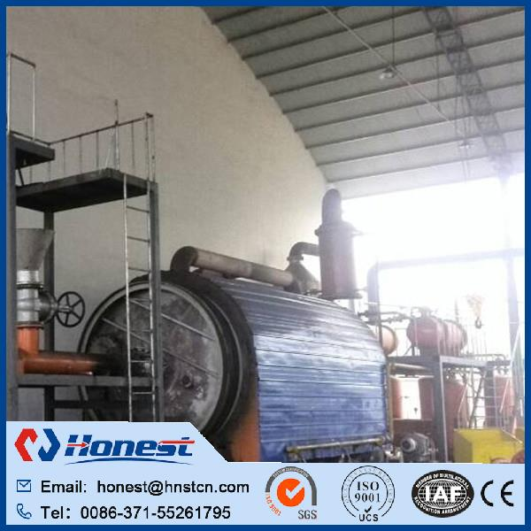 high efficiency tyre pyrolysis process equipment manufacturer