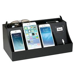 wholesale pu leather rolodex cute Power Banks desk organizers for all department