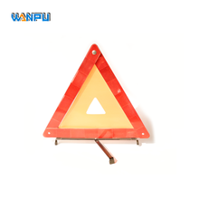 CE reflector rodeway 43cm flashing light Safety LED car warning triangle