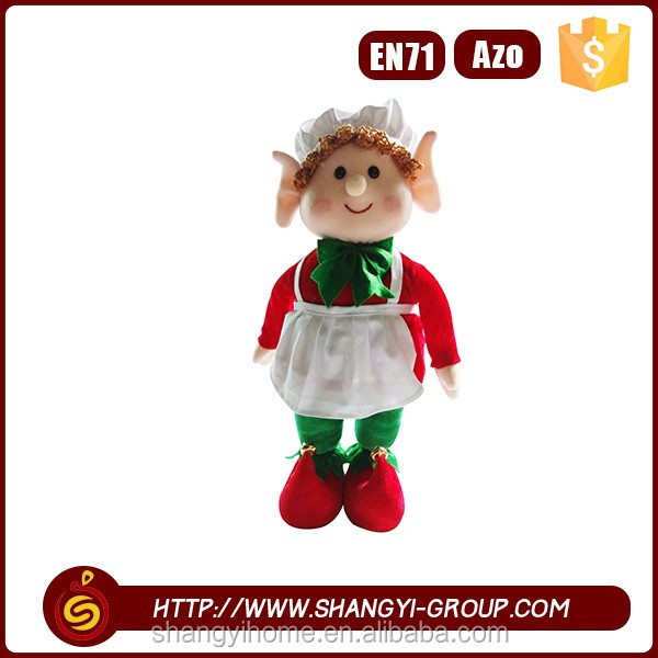 Outdoor precious moments hanging decoration handmade christmas elf toy rag doll