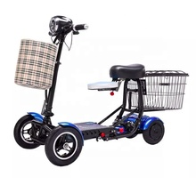 4 wheel foldable scooter double seat electric mobility scooter folding for adults disabled