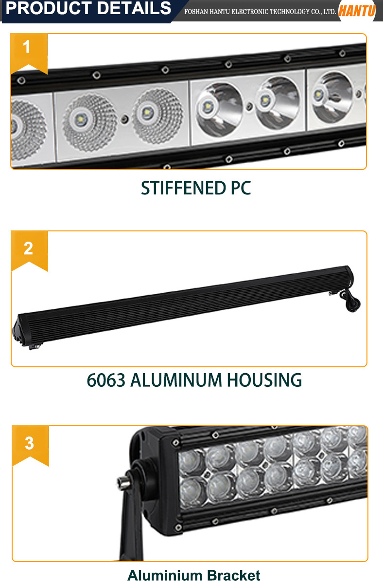 automotive part 4d lens 120w led light bar