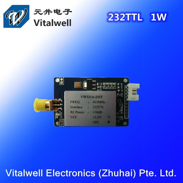 VW321A 433MHz 232TTL Long Range Small 433m Rf Module