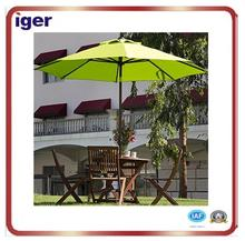 durable wind proof patio parasol beautiful green table water repellent umbrella