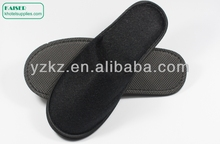 High Quality Black Sole Hotel Slippers