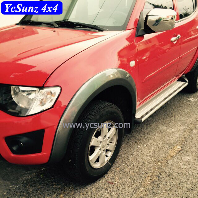 ABS Grey Fender Flare For <strong>Mitsubishi</strong> <strong>L200</strong> Triton 2006 on OEM Design Fender Flares <strong>Parts</strong>