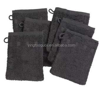 100% Cotton Terry Cloth Soap Pouch Wash Mitt