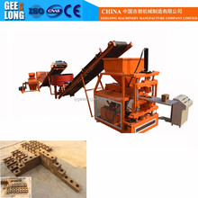 GEELONG BRAND construction equipment GLF1-10 fully automatic polymer clay interlocking brick making machine with soil mold