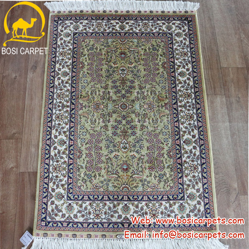 2x3ft Persian pure 100% all silk home decoration modern area turkey handmade rug