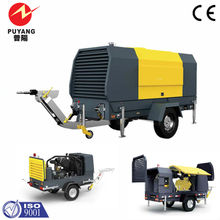 Mobile diesel driven air compressor 405cfm 116psig