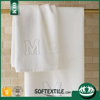 100% cotton white large quantity towel cotton hospital bath