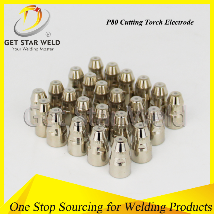 P80 cutting tip for air plasma cutting torch/P80 Gas Cutting Tip/ Plasma Cutting Electrode