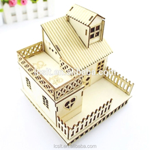Liaocheng wood slice doll miniature puzzle art and craft ornament