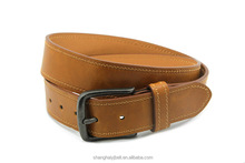 Fashion simple classic yellow brown route pu leather men belt