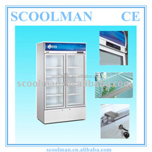 Upright Transparent Glass Door Cold Drinks Fridge