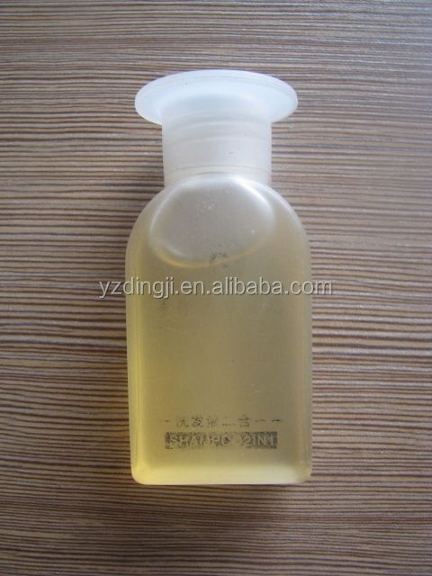 Transparent hotel shampoo /colored packing great disposable hotel bottle sham