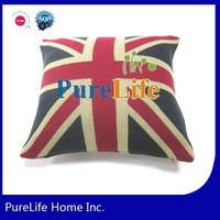 SZPLH 100%acrylic UK flag pattern weave knit cushion covers in stock