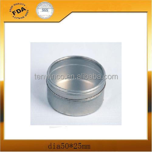 Small Round Watch Tin Box With PVC Window/Empty Tin Cans Wholesale