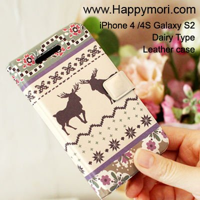 Deer Sweater_Happymori Design Flip Phone Cover Case for Apple iPhone 6 (Made in Korea)