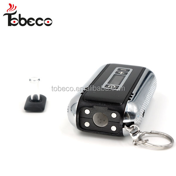tobeco Hot e cigaretts dry herb vaporizer pen Car key dry herb vaporizer 2200mAh Battery