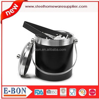 ice bucket stainless steel spraying dust ice bucket with lid and tong