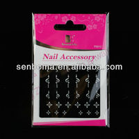 2013 Newly Design Silver Printing Custom Nail Stickers