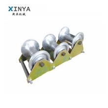 Laying cable ground pulley/roller with three aluminum wheel