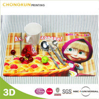 Custom Clear Polypropylene Plastic Table Mat, 3D Lenticular Placemat, Disposable PP Placemats
