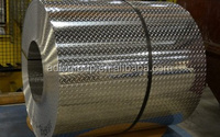 Stucco Aluminum Sheet , Roll of Embossed Aluminum Sheet