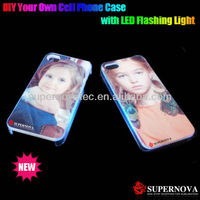 Blank Sublimation Phone Cover Case with LED Flash Light for iphone4/4s