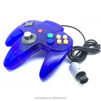 N64 game controller, colorful joystick with three paws for Nintendo 64