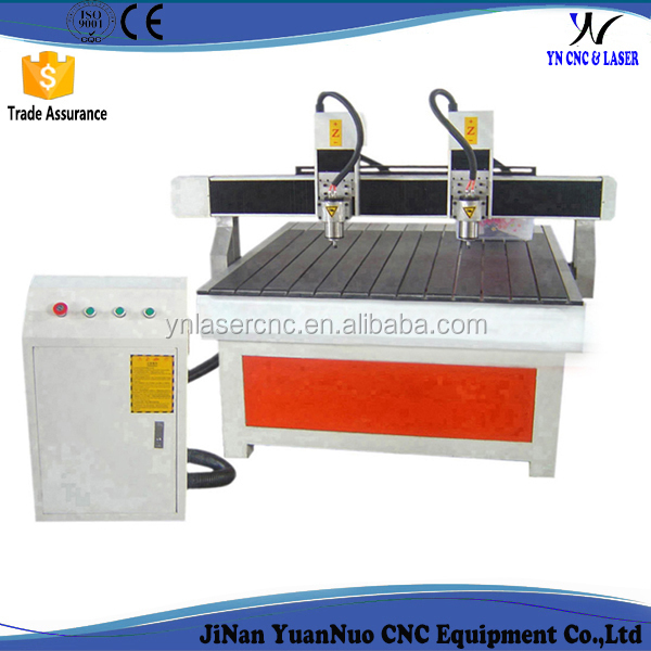 YNC 1313 3d two spindle cnc router machine