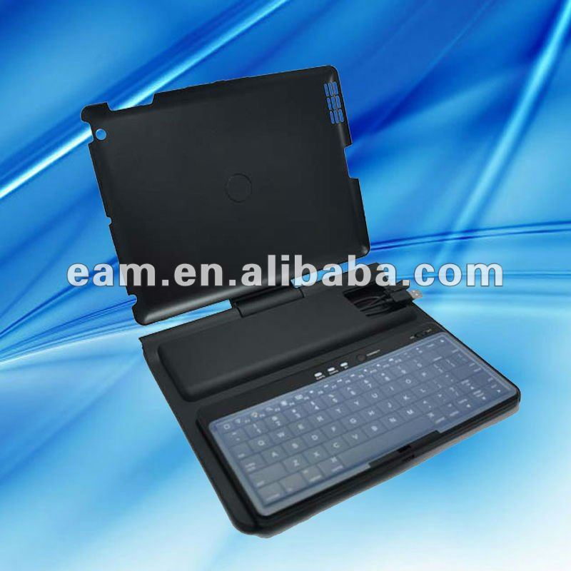 360 degree Rotatable Bluetooth keyboard case with stand for ipad 2 and new ipad