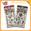 OEM shining quality flower glitter body tattoo sticker, easy peel off