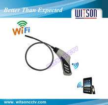 WITSON endoscope inspection video borescope wireless,8mm camera head with built-in 4LED