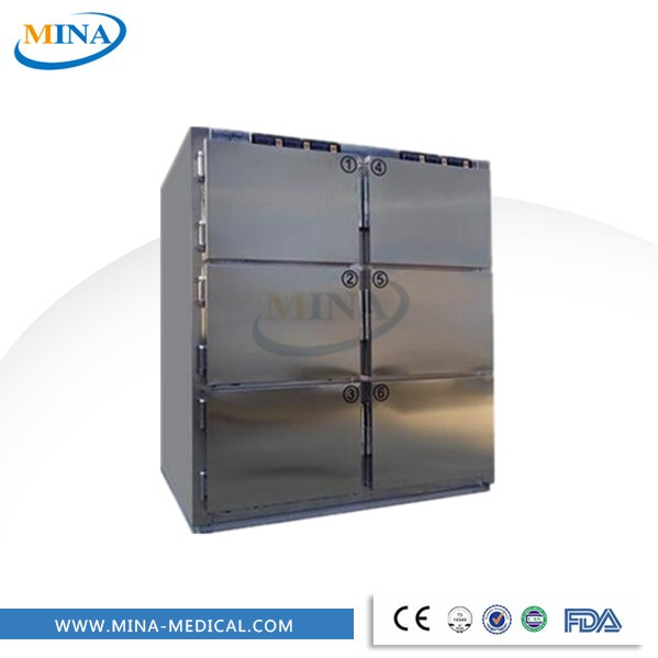MINA-HH12C stainless steel mortuary equipment refrigerator 6 bodies