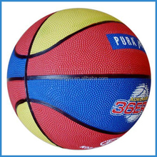 small size hard rubber basket balls for young