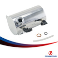 "PQY RACING-0.5L POLISHED 3/8"" NPT SIDE PORT ALUMINIUM OIL CATCH CAN BREATHER TANK RESERVOIR PQY-TK3203"