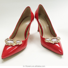 Red beautiful design high quality shoe and bag set women for party