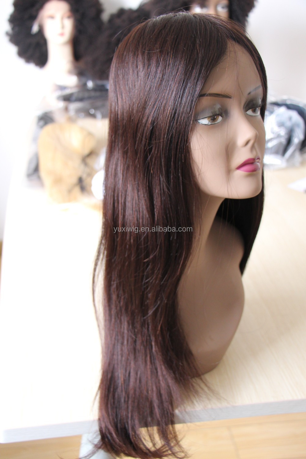 2016 Quality Fashionable mono top lace front wig,burgundy hair wig