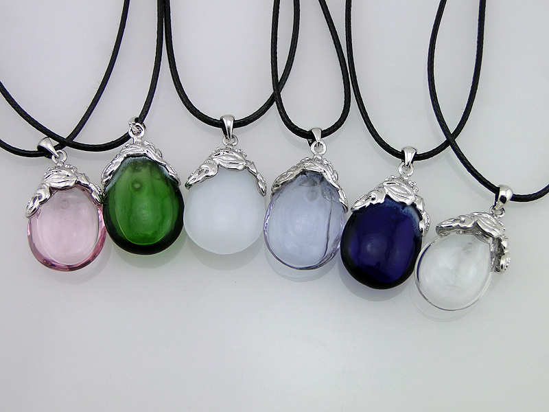 New Stylish Glass Aroma Essential Perfume Oil Bottle Pendant/Necklace/Bracelet