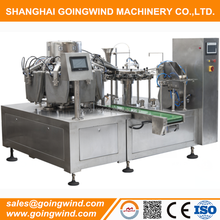 Automatic vacuum fill closing retort pouch packaging machine premade bag vacuum packing machinery good price for sale