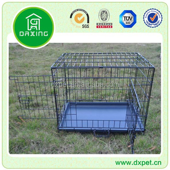 "New Black Suitcase 48"" Wire Folding Pet Crate Dog Cage DXW003"