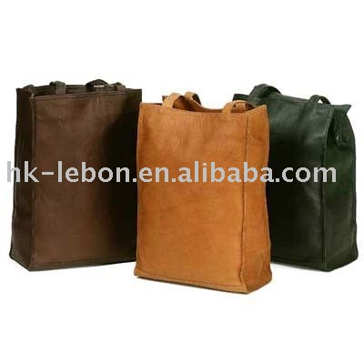 Leather Clava Lunch Box Tote