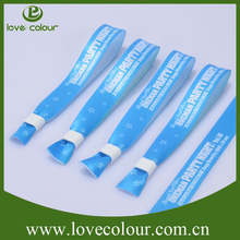 High Quality Polyester Wristbands Festival Promotion Printed Wristband