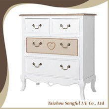French countryside style cabinets storage, wooden chest of drawers, bedroom cabinets
