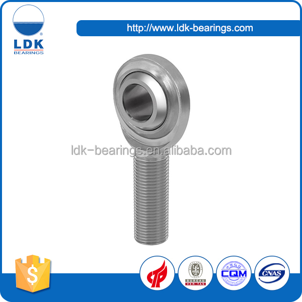 LDK all stainless steel male thread self-lubricated rod ends SPOSB..EC