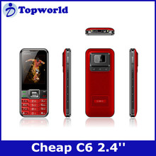 "C6 2.4""QVGA 240*320 Quad band Dual SIM card dual standby unlocked cellphones for sale"